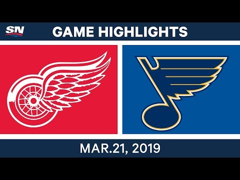 NHL Game Highlights | Red Wings vs. Blues - March 21, 2019