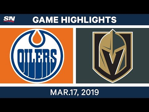 NHL Game Highlights | Oilers vs. Golden Knights - March 17, 2019