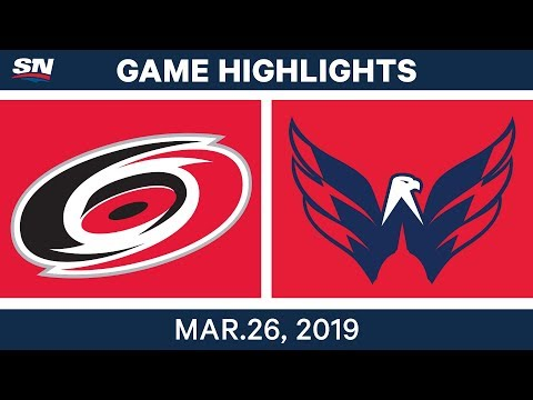 NHL Game Highlights | Hurricanes vs. Capitals – March 26, 2019