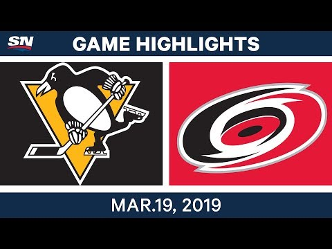 NHL Game Highlights | Penguins vs. Hurricanes - March 19, 2019