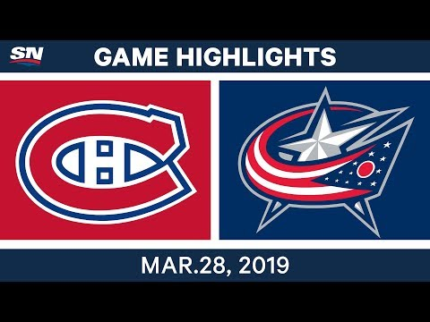 NHL Game Highlights | Canadiens vs. Blue Jackets – March 28, 2019