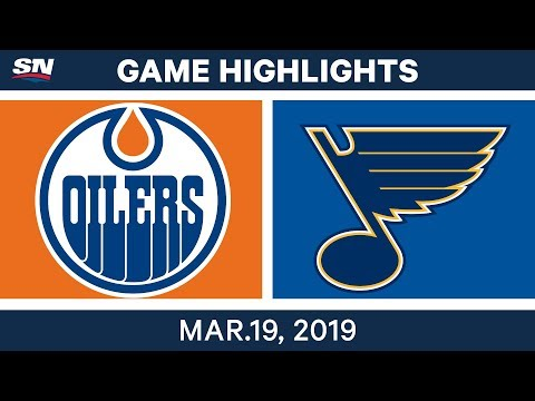 NHL Game Highlights | Oilers vs. Blues - March 19, 2019