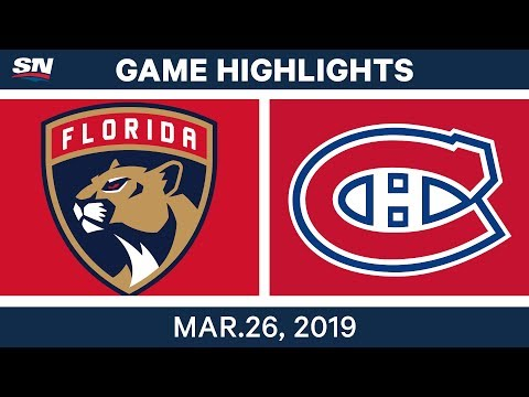 NHL Game Highlights | Panthers vs. Canadiens – March 26, 2019